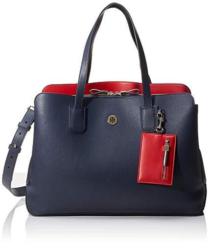 Tommy Hilfiger Charming Work Bag, Sacs bandoulière femme, Bleu (Sky Captain),