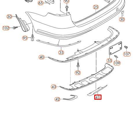 GTV INVESTMENT PASSAT B7 Heckstoßstange Anhängerkupplung Abdeckung 3AF807397A U34 NEU Original