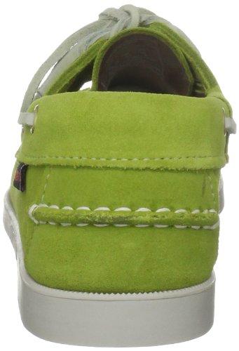 Sebago Docksides 6, Mocassini donna verde (Lime)