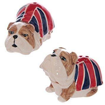 Union Jack British Bulldog Salt & Pepper Set -