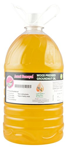 Ammi Samayal Wood Pressed (Cold press) Edible Groundnut Oil, 5 L
