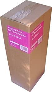 1500 Pieces Hygiene bag for Sanitary napkins (50 Packs je 30 Pieces)