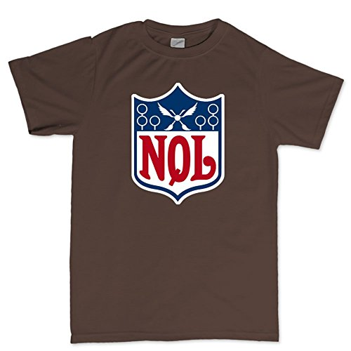 National Quidditch League - Harry Magic Wizard T Shirt (Tee) 5XL Brown