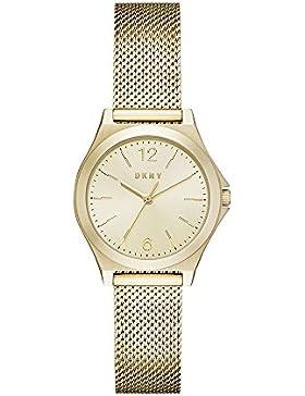 DKNY Damen-Armbanduhr Quarz Edelstahl Automatik, Farbe: goldfarbenem (Modell: ny2534)