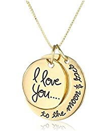 pendentif i love you to the moon