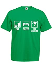 Eat Sleep Kill Walkers, The Walking Dead inspirert Mann Gedruckt T-Shirt