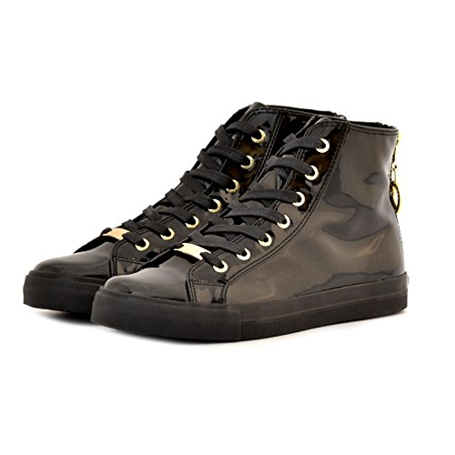 SNEAKERS LOVE MOSCHINO DONNA VERNICE NERE 39