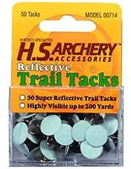 50 Trail Markers reflektierend Geocaching Reflektoren, Pins reflective dots,