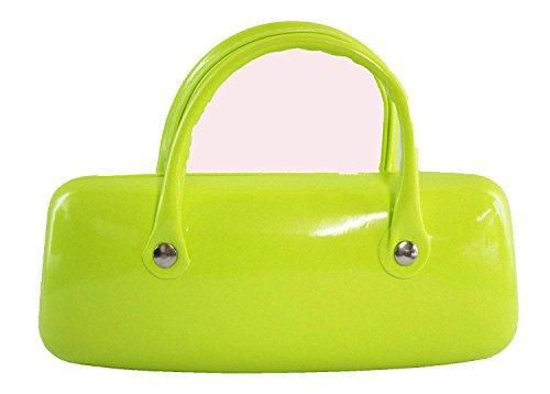 Trendy Néon Vert Étui à lunettes avec double poignée 15,2 x 6,3 cm/15 x 6 cm environ cadeau idéal