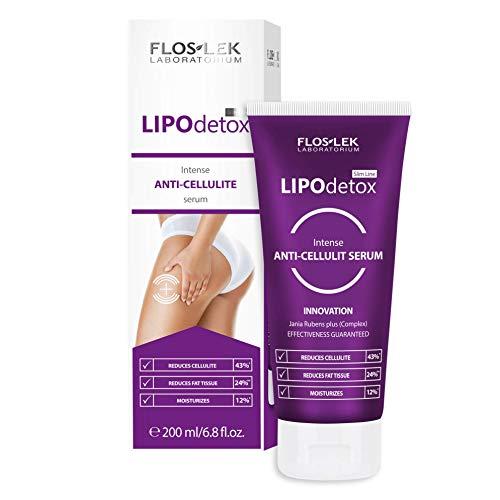 Floslek SLIM LINE LIPO DETOX Anti-Cellulite-Serum | 200 ml | Modellierung, Straffung und Befeuchtung | Glatte und Starke Haut | Für Menschen jeden Alters | Für alle Hauttypen