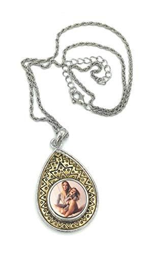 Saphirdesign Halskette mit Wunsch-Motiv-Bild-Logo ( Gold ). Geeignet als Werbe-Erinnerungs-Geschenk. Das perfekte individuelle Fotogeschenk....