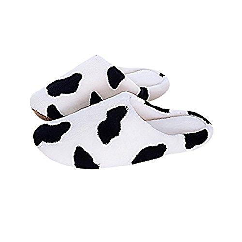 cosanter Hausschuhe XL Frauen Milch Kühe Spot Biber Sleep Schuhe für Winter innen