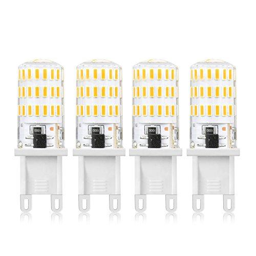 LuxVista Lampadine G9 LED 5W 3000K Bianco Calda [4 pezzi], 450lm Sostituzione Lampada Alogene 40W 360 ° Luce G9 per Lampade a Sospensione e Plafoniere - Non Dimmerabile
