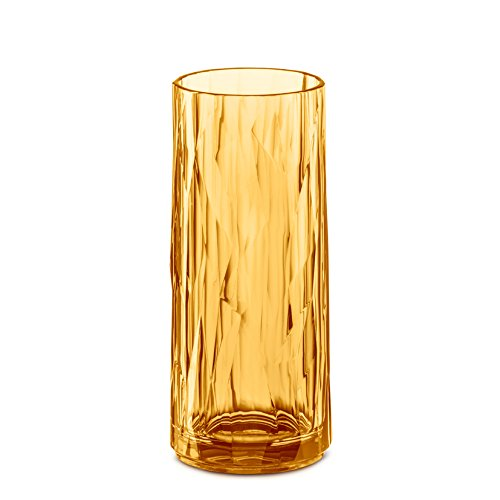 Koziol 3403651 CLUB NO. 3 Longdrink Glas, Transparent Amber -