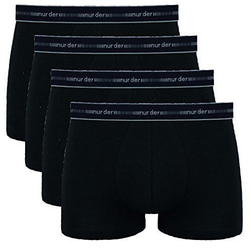 NURDER 4er Pack Boxer, Herren Boxershorts, Pants, Cotton 3D FLEX, Unterhosen (8 / (XXL), 4 schwarz) -
