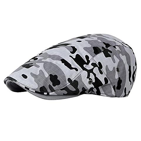 Baskenmützen & Barette Transer® Herren Gatsby Cap Weinlese-Barett Golf Fahren Hut Ployester Tarnung Sonnenschirm Mützen Hutumfang: 55-59cm (A)
