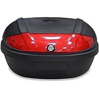 Todeco - Top Case Universal, Maletín Para Moto - Material: PP - Tamaño: 59,5 x 43,5 x 31 cm - Negro, 52 Litro(s)