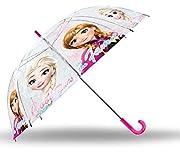 Pratico e comodo ombrello trasparente delle famose ELSA e ANNA della favola di Frozen del mondo Disney. L'ombrello ideale per le uscite di casa durante le giornate di pioggia, le sue dimensioni lo rendono alquanto pratico. La sua struttura è ...
