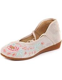 Bordado Zapatos/Alpargatas/Merceditas/Zapatos de Tela, Zapatos de Danza étnica para
