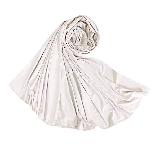 Lazzboy Frauen Ethnischen Abaya Islamischen Muslimischen Nahen Osten Solide Hijab Wrap Schal Kopfbedeckungen Baumwolle Lange Arabischen Headwear Großhandel(I) -