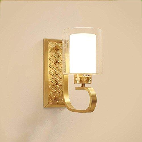 WLL Energieeinsparungen einstellbar - Einfache & modernen neuen chinesischen Stil alle glasschirm bronze Wand - zu Fuß Treppen TV-Empfang (nicht die Lichtquelle) (Größe: 16 * 27 cm). (Kupfer-bronze-outdoor Wand Licht)