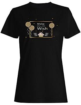 Nuevo Cumpleaños De Oro Elegante camiseta de las mujeres i432f