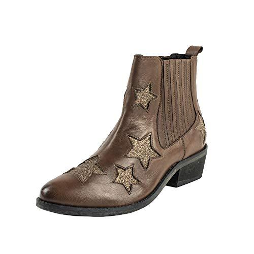 Emozioni ,  Damen Cowboy Stiefel, Braun - Leder - Größe: 35 EU