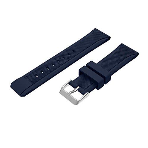 22mm Uhrenarmband, happytop Sport Silikon Armbanduhr-Band Wrist Band für Samsung Gear S3Frontier S blau -
