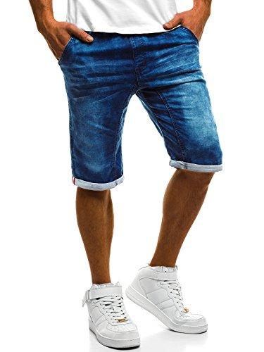 OZONEE Herren Jeans Hose Kurzhose Denim Bermudas Shorts Clubwear RF/HY247 M