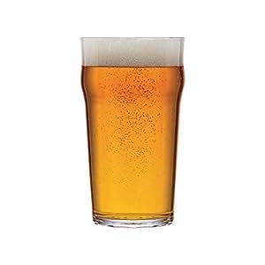 ARCOROC Authentique Verre à Bière Pinte sans Pied empilable de Marque modèle Nonic Original 57 cl - Lot de 6