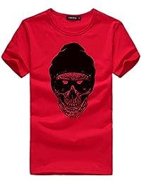 TWBB Camisetas de Manga Corta para Hombre Camisetas de Manga Corta de algodón Casual