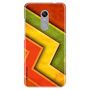 iSweven Zic Zac design printed matte finish back case cover for Xiaomi Redmi Note 4X
