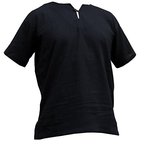 PANASIAM Sommer Hosen und Hemden Aus wohlig Weicher, 100% Reiner Naturbaumwolle Shirt in schwarz
