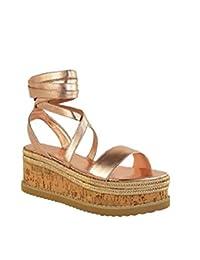 Sandalias Mujer Plataforma Cuña Alpargatas Bohemias Romanas Ante Mares Playa Gladiador Verano Tacon Planas Zapatos Zapatillas