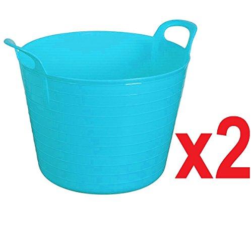 2 x BLUE 42 Litre Large Flexi Tu...
