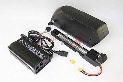 41qSsP1gM4L - 48V 750W Bafang 8fun Mid Crank Drive Motor Conversion Kits + 48V 14.5AH Down Tube TigerShark Frame CasePanasonic Cell…