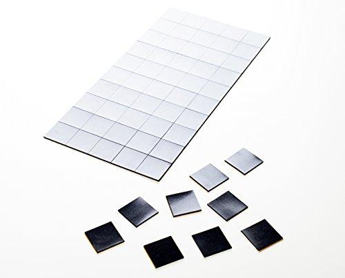 Rothko and Frost Lot de 100pièces–Autocollant magnétique–20mm x 20mm–Épaisseur: 1,2mm–Noir–haftstarke Aimants Autocollants Idéal pour les bureaux, Poster, réfrigérateurs, tableau blanc découpable