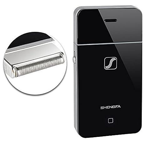 Often™ Homme Rasoir Tondeuse Slim Portable Foil Electrique Rechargeable Voyage Slimline Pocket Taille