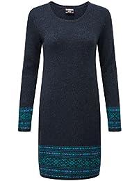 Kleid damen blau weib