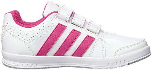 adidas Performance LK Trainer 7, Scarpe da Corsa Unisex – Bambini, Noir/Noir/Gris Multicolore (Blanco / Rosa (Ftwbla / Eqtros / Grimed))