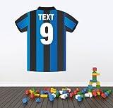 Wandaufkleber, personalisierbar, Fußballshirt, Vinyl, farbig