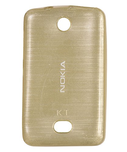 iCandy Soft TPU Shiny Back Cover for Nokia Asha 501 - Golden  available at amazon for Rs.99