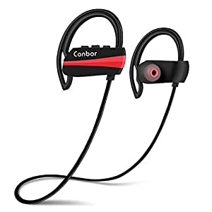 canbor bluetooth headphones wireless earphones bluetooth 4 1 headset ipx7 sweatproof sport. Black Bedroom Furniture Sets. Home Design Ideas