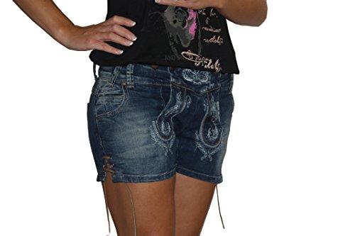 Damen Jeans Short blau Gr.32-40 Marjo (38, blau)