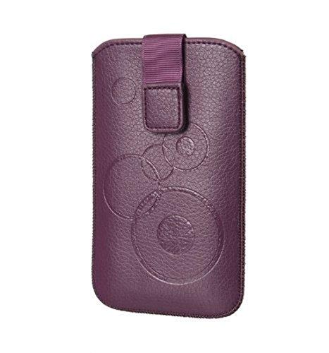 Handytasche Circle violett geeignet für Kodak Ektra - Handy Tasche Schutz Hülle Slim Case Cover Etui mit Klettverschluss