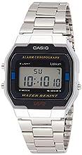 Casio Mixte Digital Quartz Montre avec Bracelet en Acier Inoxydable A163WA-1QES