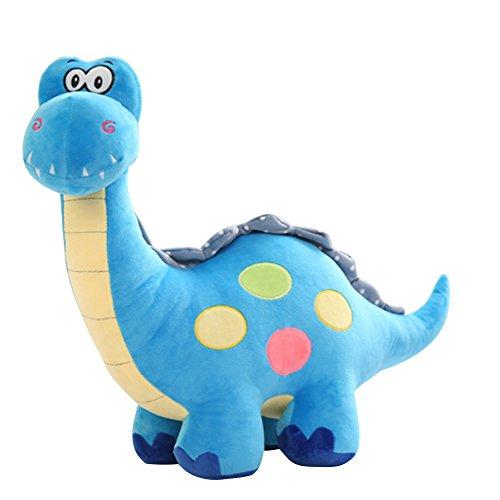 LQZ(TM) Peluche Dinosaure Jouet Poupée 50cm Coussin Cadeau pour Enfant Doudou Doll Poupée Adorable Anniversaire Decoratif Garçon Mignon (Bleu, 35cm)