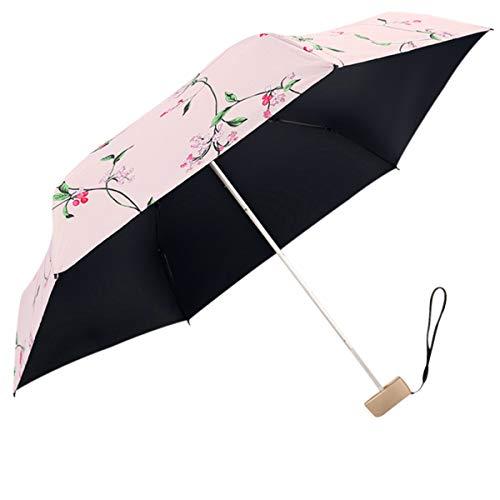 DORRISO Ombrello Mini Pieghevole Manico Antiscivolo Antivento Impermeabile Anti-UV Multiuso Viaggio Ombrello Donna Ombrello