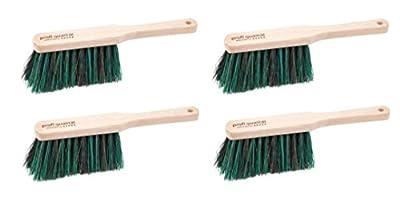 Handfeger 4er Set • Profiqualität • Material: Arenga / Elaston, Mischung 50 / 50 %