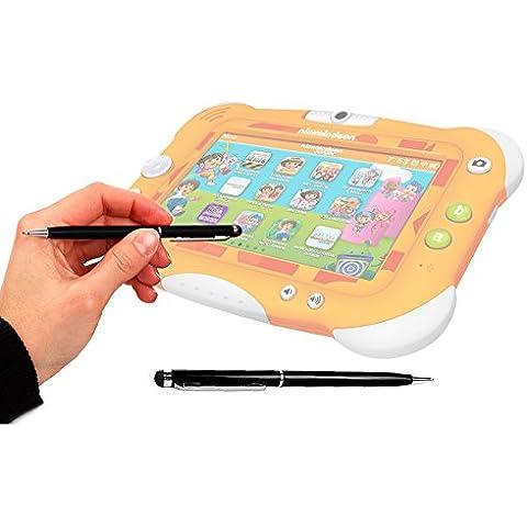 DURAGADGET Lápiz Stylus Negro 2 En 1 Bolígrafo De Tinta Para Pantalla Táctil De Tablet Videojet